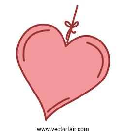 heart love hanging icon
