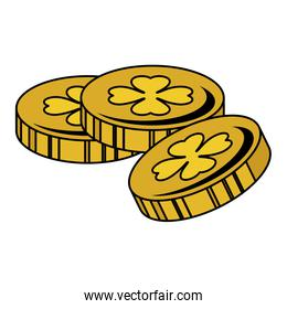 coins with clover icon