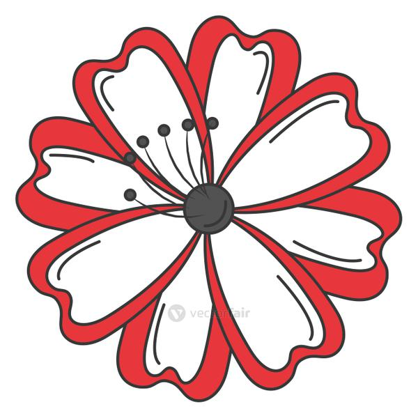 japanese flower isolated icon
