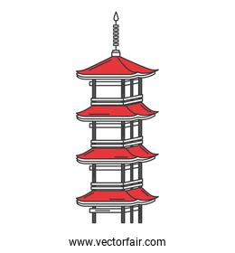 japanese temple isolated icon