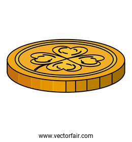 coins with clovers icon