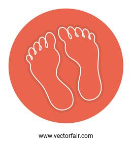 Foot plants isolated icon