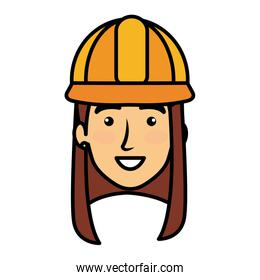 constructor woman head avatar character