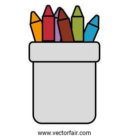 crayons colors in holders