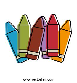 crayons colors collection icon