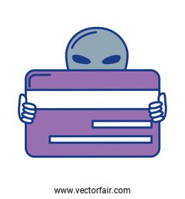 alien with credit card