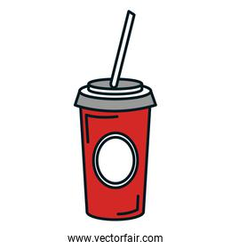 soda cup isolated icon