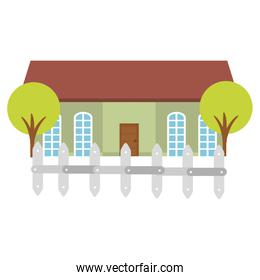 beautiful house building isolated icon