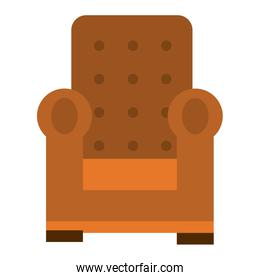 confortable couch isolated icon