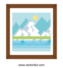 landscape painting isolated design