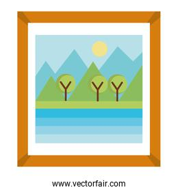 landscape painting isolated icon