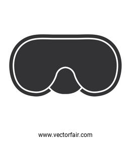 snorkel googles diving isolated icon