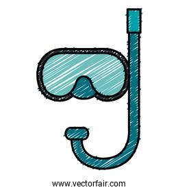 snorkel diving isolated icon