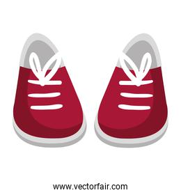 young shoes isolated icon
