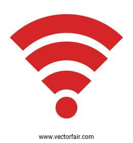 wifi signal isolated icon