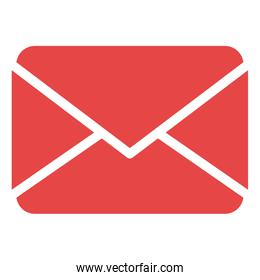 mail envelope isolated icon