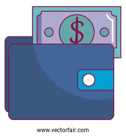 wallet with bill icon