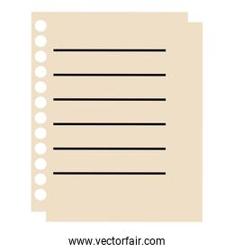 sheet of notebook icon