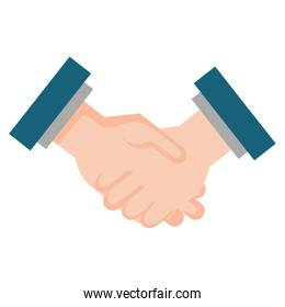 hands done deal isolated icon