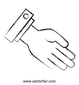 hand receiving isolated icon