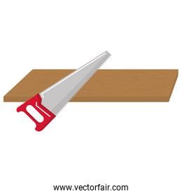 handsaw tool with wooden board