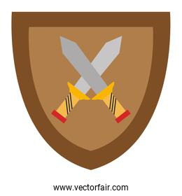 shield with warrior sword