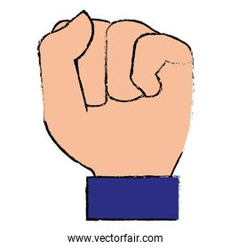 hand up fist icon
