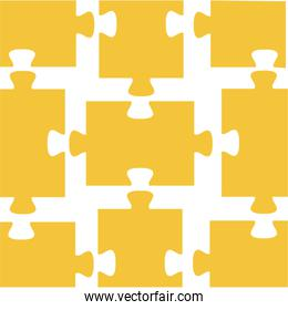 yellow puzzle pieces pattern background