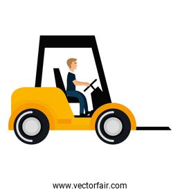 forklift vehicle isolated icon