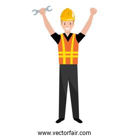 construction worker with wrench avatar