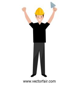 construction worker with spatula avatar