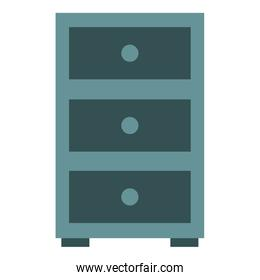office drawer isolated icon