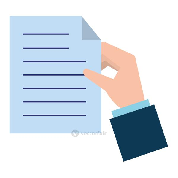 hands with paper document