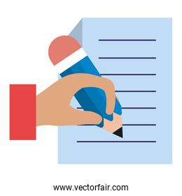 paper document with hand writen