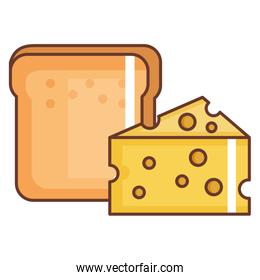 bread toast with cheese