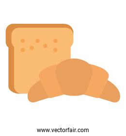 bread toast with croissant