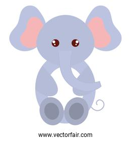cute and tender elephant character