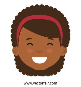 cute and little african girl head