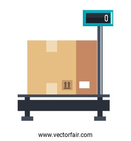 delivery service scale with box