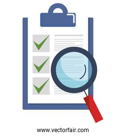 checklist document with magnifying glass