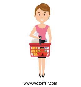 customer with shopping basket