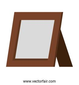 portrait wooden isolated design