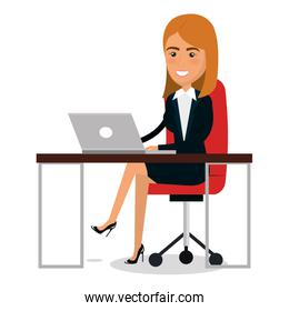 businesswoman in workplace character