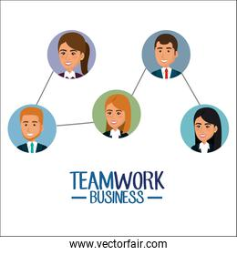 group of businespeople teamwork