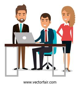 group of businespeople in the work place teamwork