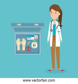 female doctor with medical kit