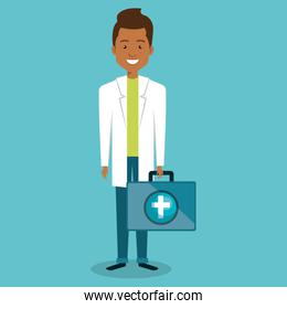 male doctor with medical kit