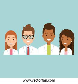 group of medical staff characters