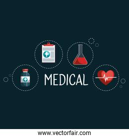 medical elements set icons