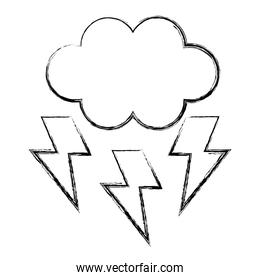 cloud with thunders icon